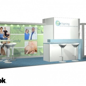 Wellspring 10x20 Custom Trade Show Booth