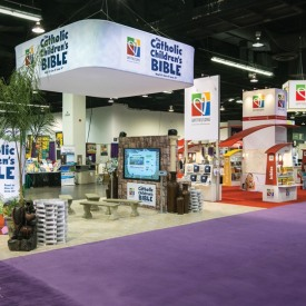 Catholic Children's Bible Larger Custom Trade Show Booth