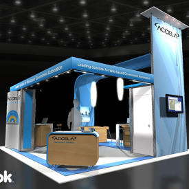 Accela 20x20 Custom Trade Show Booth