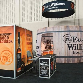 Evan Williams 20x20 Custom Trade Show Booth