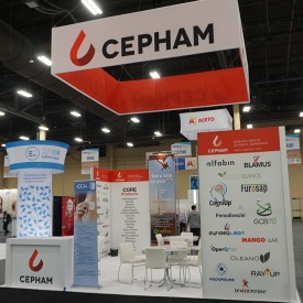 Cepham 20x20 Custom Trade Show Booth