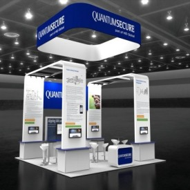 Quantum Secure 20x20 Custom Trade Show Booth