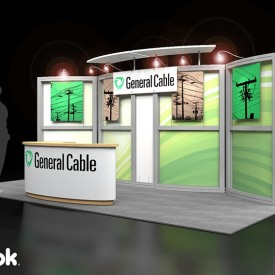 General Cable 10x20 Custom Trade Show Booth