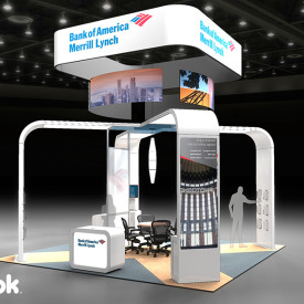 Bank of America Merrill Lynch 20x20 Custom Trade Show Booth