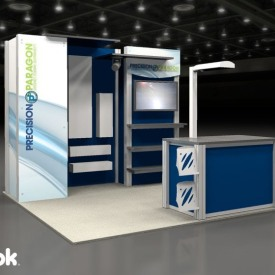 Precision Paragon 10x10 Custom Trade Show Booth
