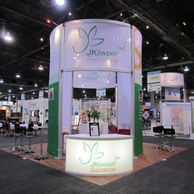 JKSweet Sucralose 20x20 Custom Trade Show Booth