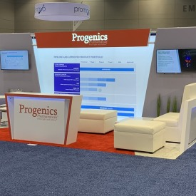 Progenics 10x20 Custom Trade Show Booth