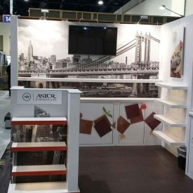Astor Chocolate 10x10 Custom Trade Show Booth