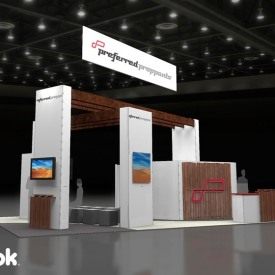 Preferred Proppants Larger Custom Trade Show Booth