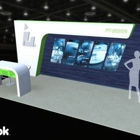 PTI Design 10x20 Custom Trade Show Booth