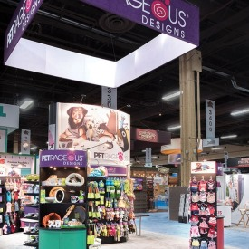 Petrageous 20x20 Custom Trade Show Booth