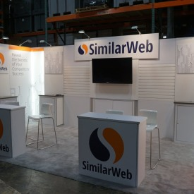 SimilarWeb 10x20 Custom Trade Show Booth