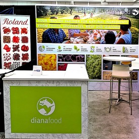 Diana Foods 10x10 Custom Trade Show Booth