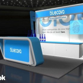 Bluecava 10x10 Custom Trade Show Booth