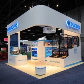 Barclay's 20x20 Custom Trade Show Booth