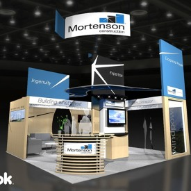 Mortenson 20x20 Custom Trade Show Booth