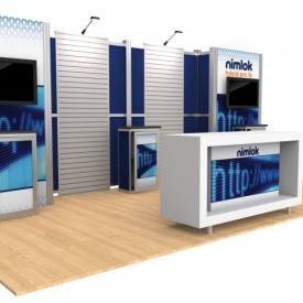 Nimlok Hybrid Pro 16 10x20 Custom Trade Show Booth