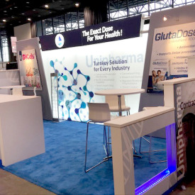 Unipharma 10x20 Custom Trade Show Booth