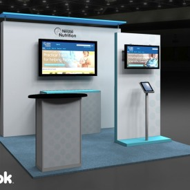 Nestle Nutrition 10x10 Custom Trade Show Booth