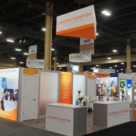 Capstone Nutrition Custom Trade Show Booth