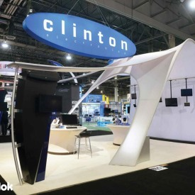 Clinton Electronics 20x20 Custom Trade Show Booth