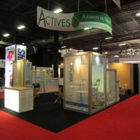 Actives International Larger Custom Trade Show Booth
