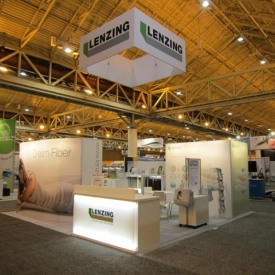 Lenzing 20x20 Custom Trade Show Booth
