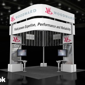 Woodward 20x20 Custom Trade Show Booth