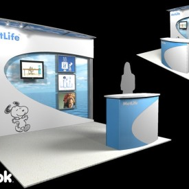 MetLife 10x10 Custom Trade Show Booth