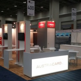 Austria Card Larger Custom Trade Show Booth