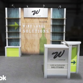 Wine Label Solutions 10x10 Custom Trade Show Booth
