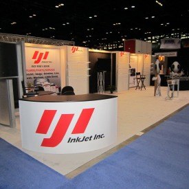 InkJet Inc. Larger Custom Trade Show Booth