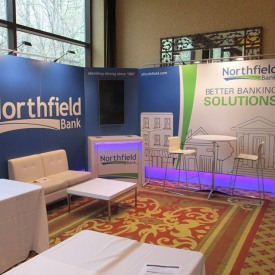 Northfield Bank 20x20 Custom Trade Show Booth