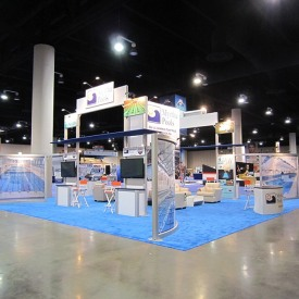 Myrtha Pools Larger Custom Trade Show Booth