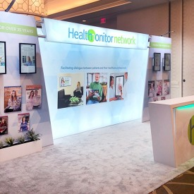 Health Monitor 10x20 Custom Trade Show Booth