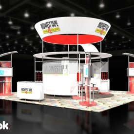 Midwest Tape Larger Custom Trade Show Booth