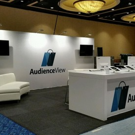 AudienceView 10x20 Custom Trade Show Booth