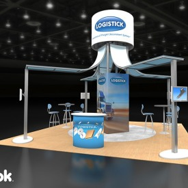 Logistick 20x20 Custom Trade Show Booth