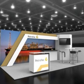 Petrofac 10x20 Custom Trade Show Booth