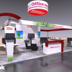 Office Depot Larger Custom Trade Show Booth