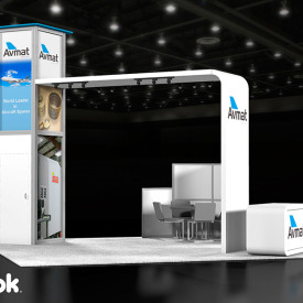 Avmat 20x20 Custom Trade Show Booth