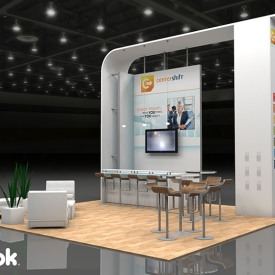Center Shift 20x20 Custom Trade Show Booth