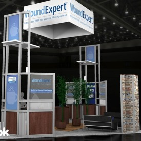 Wound Expert 20x20 Custom Trade Show Booth