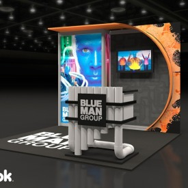 Blue Man Group 10x10 Custom Trade Show Booth
