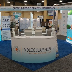 Molecular Health 20x20 Custom Trade Show Booth