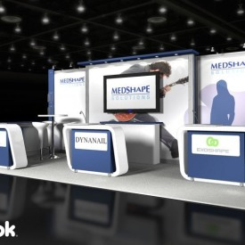 Medshape 10x20 Custom Trade Show Booth