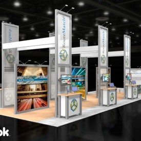 Route Match Larger Custom Trade Show Booth