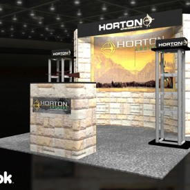 Horton Archery 10x10 Custom Trade Show Booth