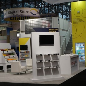 Display Data Larger Custom Trade Show Booth
