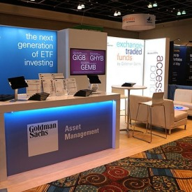 Goldman Sachs 10x20 Custom Trade Show Booth